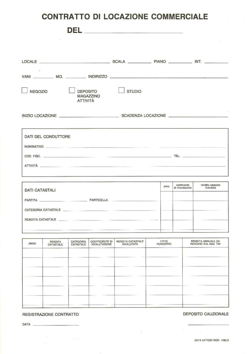Acquista contratto di locazione commerciale prezzo - Contratto di donazione immobile ...