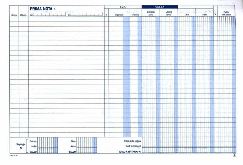 Acquista Prima Nota Cassa Iva 21 5x29 7 Cm Data Ufficio