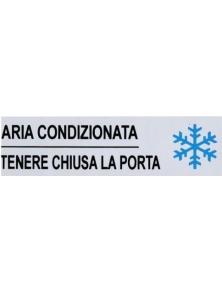 TARGHETTA ADESIVA IN VINILE ARIA CONDIZIONATA TENERE CHIUSA LA PORTA