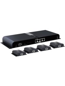 Extender Splitter 4 vie HDMI con IR su Cavo Cat.6/6a/7 fino a 120m