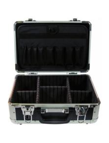 Valigia per tecnici in alluminio blu piccola 315x220x150mm