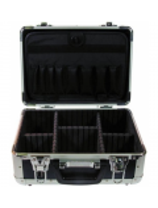 Valigia per tecnici in alluminio blu grande 425x300x120mm