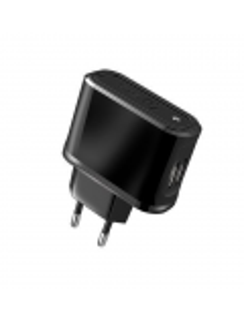 ALIMENTATORE CON DUE PORTE USB 2.1 A NERO
