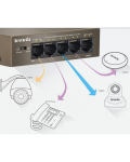 SWITCH ETHERNET 10/100 8 PORTE (4 PORTE POE)