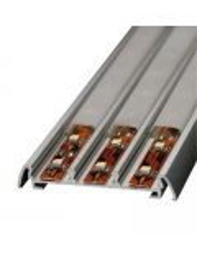 Profilo in alluminio per strip led da 12mm da incasso con copertura
