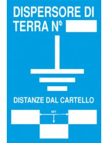 SEGNALETICA 730/A DISPERSORE DI TERRA