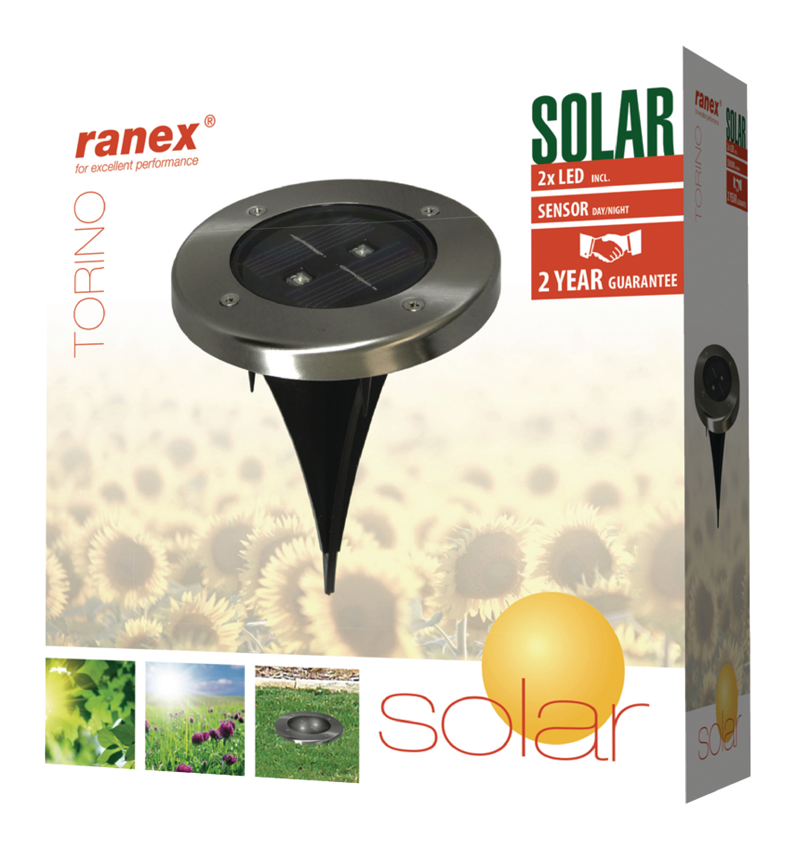 Faretti Da Giardino A Energia Solare.Acquista Faretto Led Da Terra Ad Energia Solare Da Esterno 2