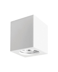 SQUARED PLASTER SPOTLIGHT HOLDER 70X70X112MM 1XGU10 230V CEILING