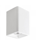 SQUARED PLASTER SPOTLIGHT HOLDER 90X90X135MM 1XGU10 230V CEILING