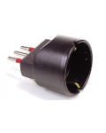 ADAPTER PLUG 10A 10A SETTING WITH EARTH + SCHUKO