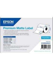 ROLL OF LABELS EPSON PREMIUM MATTE 102X51MM 650 ET