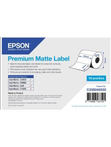 ROLL OF LABELS EPSON PREMIUM MATTE 102X76MM 440 LABELS