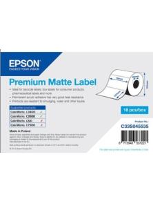 ROLL OF LABELS EPSON PREMIUM MATTE 76X127MM 265 LABELS