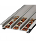 ALUMINUM PROFILE FOR 12MM LED STRIP RECESSED WITH 2MT COVER
