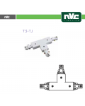 T SHAPED CONNECTOR FOR WHITE T3 TRACK