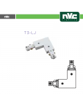 L SHAPED CONNECTOR FOR WHITE T3 TRACK