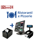 PC TOUCH + STAMPANTE FISCALE + SOFTWARE RISTORANTE