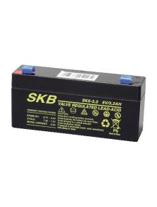 BATTERIA AL PIOMBO RICARICABILE SKB SK6 - 3,2