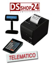 STAMPANTE FISCALE TELEMATICA CUSTOM / SYSTEM  RETAIL DISPLAY E TASTIERA  TIKE II FRX ETH USB RS232 SRT IN