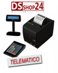 STAMPANTE FISCALE TELEMATICA CUSTOM / SYSTEM  RETAIL DISPLAY E TASTIERA  TIKE II FRX ETH USB RS232 SRT IN