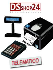 STAMPANTE TELEMATICA CUSTOM  / SYSTEM RETAIL TASTIERA / DISPLAY  Q3X F RT