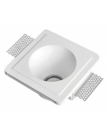 SQUARED PLASTER SPOTLIGHT HOLDER 150X150X85MM 1XGU10 230V RECESSED