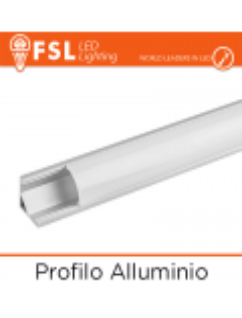 PROFILIO IN ALLUMINIO PER STRIP A LED  2MT