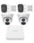 VIDEO SURVEILLANCE KIT HYBRID UNIARCH XVR + 4 BULLET / DOME HDMI, VGA Bnc