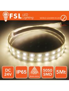 STRIP LED  FSL  12W  3000K 24V IP65 5MT