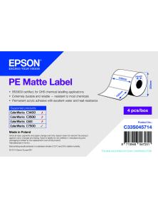 ROTOLO ADESIVO SINTETICO EPSON  4PZ  -  102MMX152MM