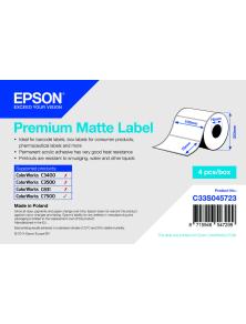 ROTOLO ADESIVO CARTA PREMIUM EPSON  4PZ  -  102MMX51MM