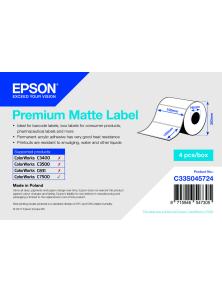 ROTOLO ADESIVO CARTA PREMIUM EPSON  4PZ  -  102MM X152MM