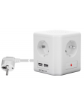 MULTIPLE CUBE SOCKET WITH 2 USB PORTS
