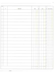 REGISTRO CONTO CORRENTE BANCA  / POSTA A SCALARE 31X24,5 cm