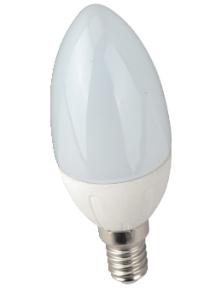 LAMPADINA LED OLIVA E14 6W LUCE FREDDA 6500K