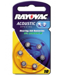 BATTERIES ZINC / AIR FOR ACOUSTIC RAYOVAC 10