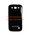 BACK COVER BLACK COMPATIBLE SAMSUNG SIII/i9300