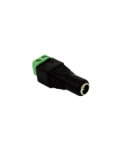 ADAPTER FROM 5,5X2,5MM DC PLUG TO SCREW TERMINALS