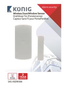 SENSOR WIRELESS DOOR / WINDOW KONIG SAS-ASDW300
