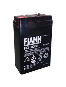 BATTERIA AL PIOMBO RICARICABILE FIAMM FG10381 6v 3.8 amp
