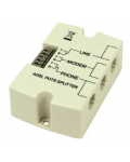 PROFESSIONAL ADSL SPLITTER DOUBLE ENTRY TERMINAL OR MODULAR SOCKEt