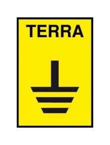 TARGA IN ALLUMINIO CON SIMBOLO TERRA