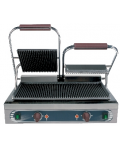 CAST-IRON DOUBLE GRILL RIBBED / RIBBED