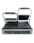 CAST-IRON DOUBLE GRILL FLAT / RIBBED