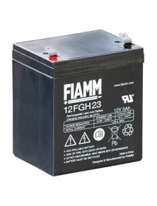 BATTERIA AL PIOMBO RICARICABILE FIAMM  12FGH23  12v 5 amp.