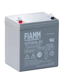 BATTERIA AL PIOMBO RICARICABILE FIAMM 12FGHL22 12v 5 amp.
