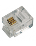6P4C RJ11 modular plugs for flat cable